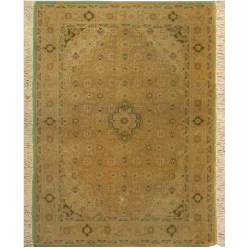 پادری دستبافت قدیمی نیم متری فرش هریس کد 100477