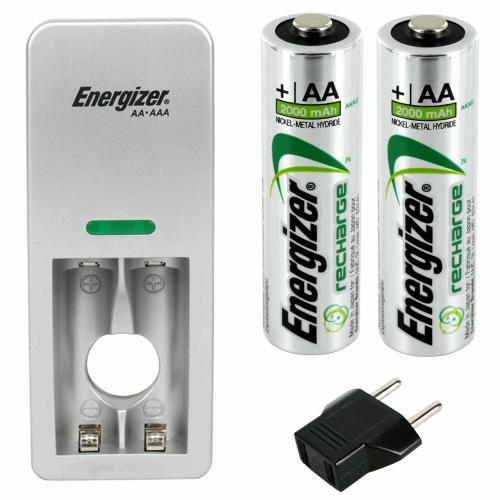 شارژر باتری انرجایزر مدل CH2PC2 همراه با 2 عدد باتری قلمی قابل شارژ