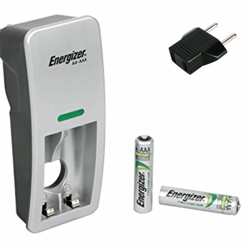 شارژر باتری انرجایزر مدل CH2PC2 همراه با 2 عدد باتری نیم قلمی