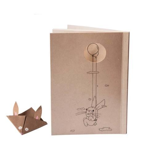 دفتر یادداشت بیگای استودیو مدل خرگوش به همراه بوک مارک هدیه
