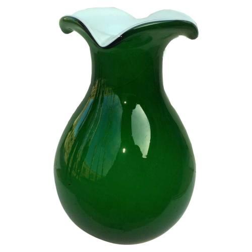 گلدان شیشه ای مدل خمره ای 2 پوست