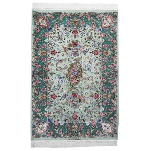 فرش دستبافت ابریشمی سه متری اثر  رضاپور کد 182045