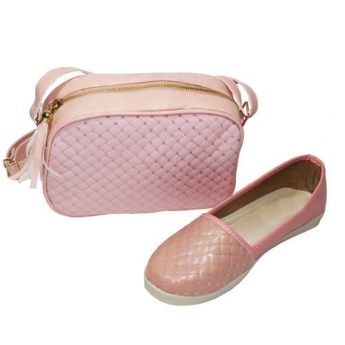 ست کیف و کفش زنانه پرین طرح CHANEL کد PR620