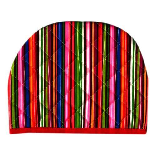 روقوری کتان رزین تاژ طرح راه راه رنگی