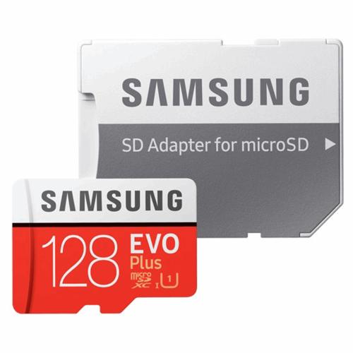 کارت حافظه microSDXC سامسونگ مدل Evo Plus کلاس 10 استاندارد UHS-I U1 سرعت 80MBps همراه با آداپتور SD ظرفیت 128 گیگابایت