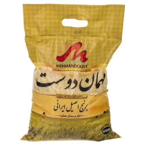 برنج طارم مهماندوست مقدار 4.5 کیلوگرم |