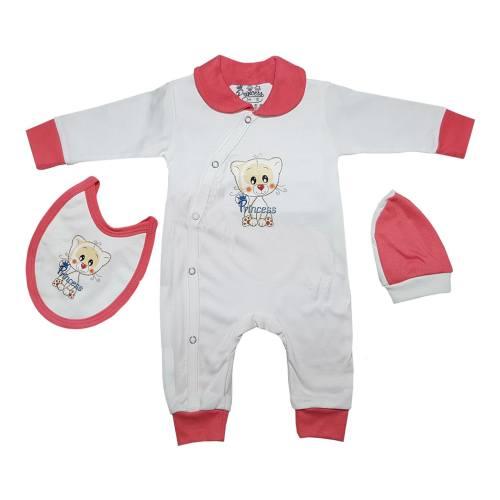 ست سه تکه سرهمی لباس نوزادی برند پرنسس مدل RED