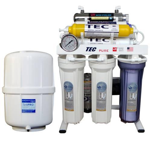 تصفیه آب تک 8 مرحله ای با ماورابنفش و  قلیایی ORP   اسمز معکوس مدل RO-T290