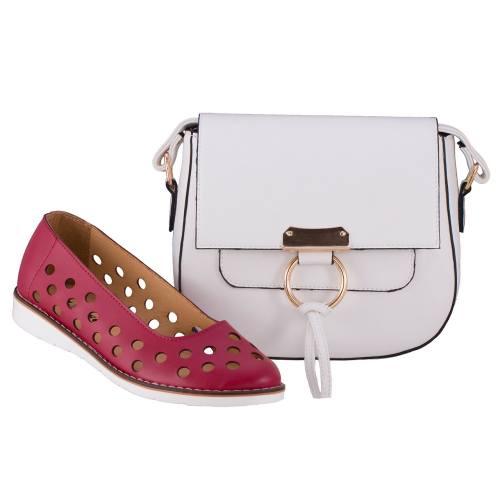 ست کیف و کفش زنانه ال پاسو مدل پانچی قرمز 300