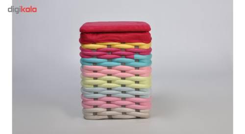 سبد رخت شایگان مدل بافت رنگی