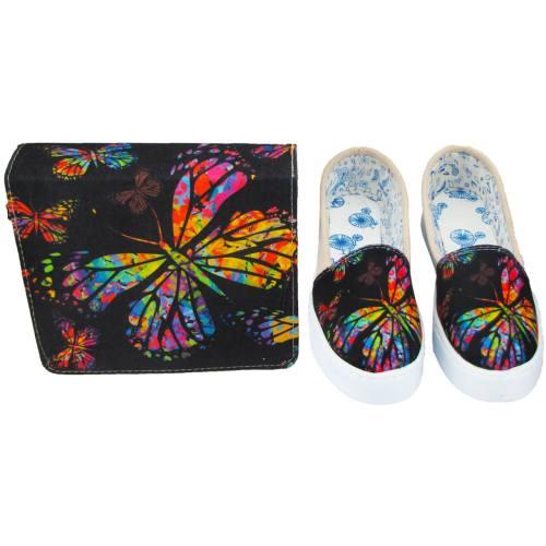 ست کیف و کفش مدل پروانه Butterfly