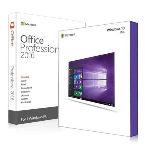نرم افزار مایکروسافت ویندوز 10 نسخه پرو به همراه مایکروسافت آفیس پرو پلاس 2016