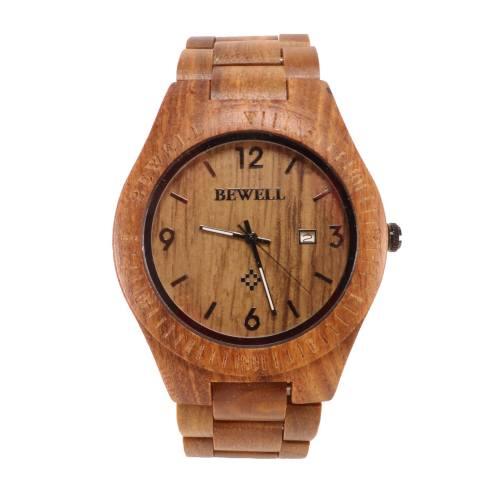 ساعت مچی عقربه ای چوبی مردانه بیول مدل RW80