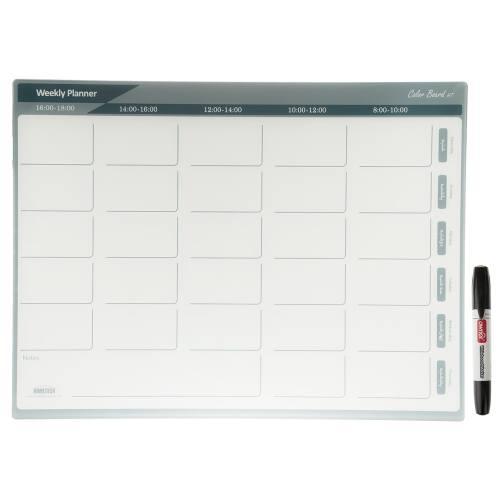 تخته وایت برد شیشه ای هوم تک مدل Weekly Planner Board سایز 80 × 60 سانتیمتر