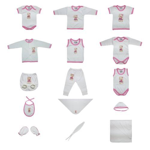 ست کامل پانزده تکه لباس نوزادی برند پرنسس  مدل PINK