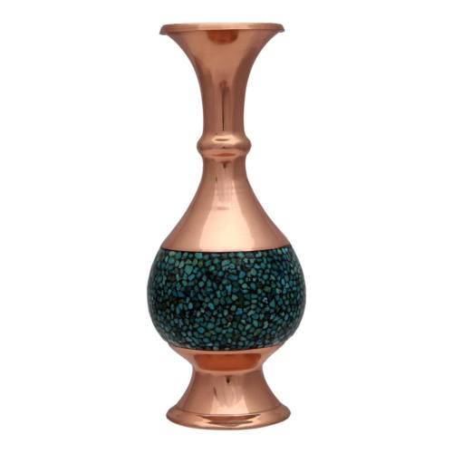 گلدان فیروزه کوب چیتساز کد dfz20 ارتفاع 16 سانتی متر