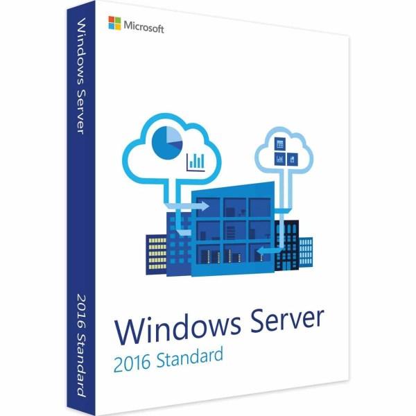 نرم افزار مایکروسافت ویندوز سرور 2016 نسخه استاندارد ریتیل | Windows Server 2016 Standard Retail