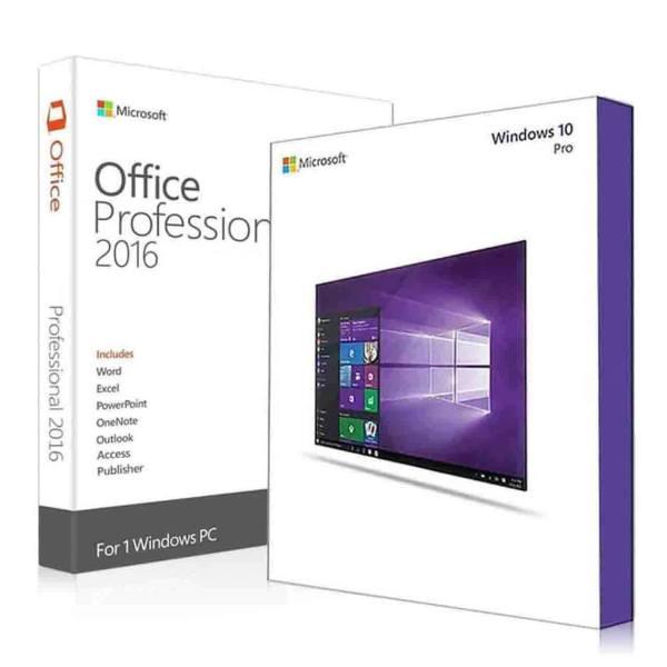 نرم افزار مایکروسافت ویندوز 10 پرو ویژه اروپا به همراه مایکروسافت آفیس پرو پلاس 2016 | Microsoft Windows 10 Pro N-Office 2016 Pro Plus