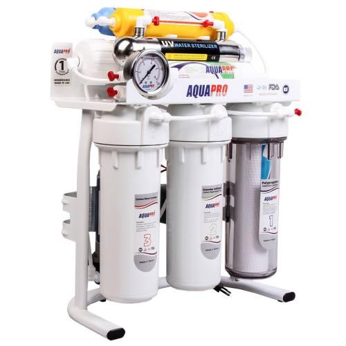 تصفیه آب خانگی 8 مرحله ای آکوا پرو قلیایی فرابنفش اسمز معکوسRO8-ORP-UV
