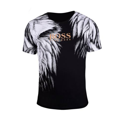 تی شرت سه بعدی مردانه طرح Boss مدل 1005