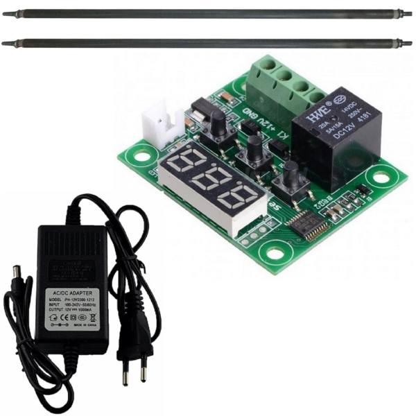 کیت کنترلر  دما دیجیتال ٬ المنت ٬ آداپتور  و ترموستات - مونتاژ نشده | electromechanic temperature controller with heater