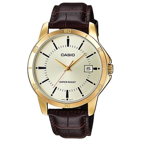 ساعت مچي عقربه اي کاسيو مدل MTP-V004GL-9AUDF مناسب براي آقايان | Casio MTP-V004GL-9AUDF For Men