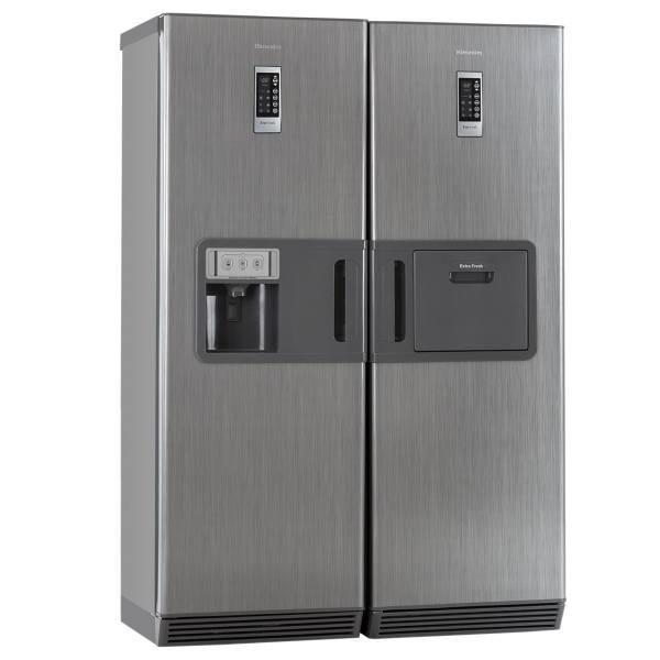 یخچال و فریزر دوقلوی هیمالیا مدل بتا نقره ای نوفراست هوم بار یخساز | Himalia Beta Silver No Frost Refrigertator with Homebar and Icemaker