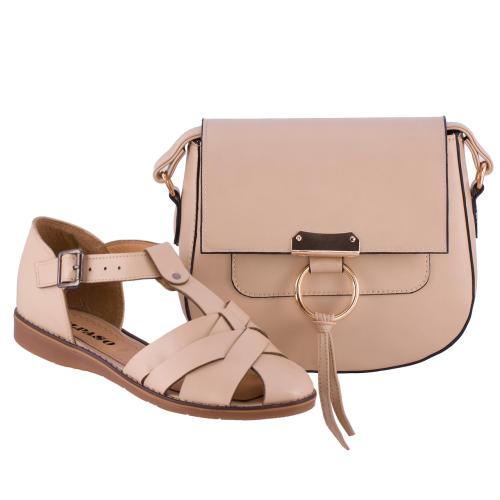 ست کیف و کفش زنانه ال پاسو مدل حصیری 110