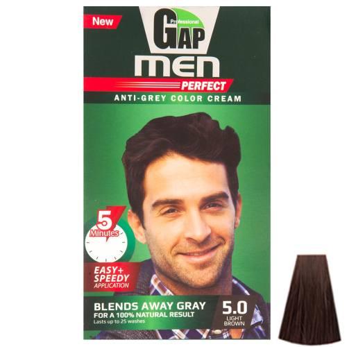 کیت رنگ مو گپ سری Men Perfect مدل  Light Brown شماره 5.0