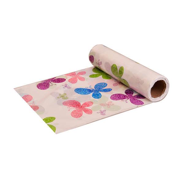سفره یکبار مصرف پنگوئن مدل پروانه- رول 10 متری - بسته 3 عددی | Penguin butterfly Tablecloth Plastic - Roll Of 10m