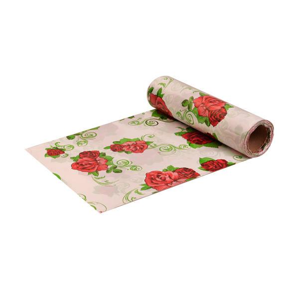 سفره یکبار مصرف پنگوئن مدل گل رز- رول 10 متری - بسته 3 عددی | Penguin Roz Flower Tablecloth Plastic - Roll Of 10m
