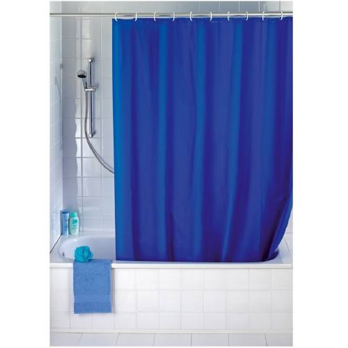 پرده حمام ونکو مدلUni  Night Blue سایز 200x180 سانتی متر