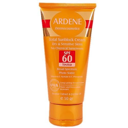کرم ضد آفتاب رنگی آردن SPF60 مقدار 50 گرم