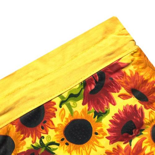 کیسه سبزی چاپی 3 تکه رزین تاژ طرح آفتابگردان