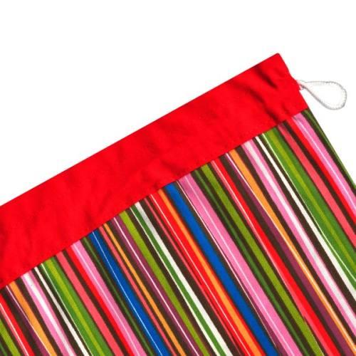 کیسه سبزی کتان 2 تکه رزین تاژ طرح راه راه رنگی