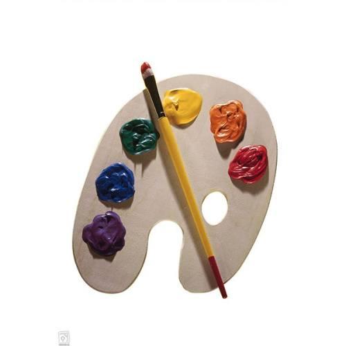 پالت رنگ چوبی - طرح بیضی