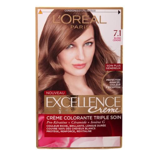 کیت رنگ مو لورآل مدل Excellence شماره 7.1