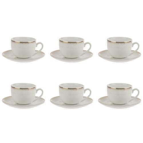 سرویس چای خوری 12 پارچه چینی زرین ایران سری ایتالیا اف مدل Sepidar درجه یک
