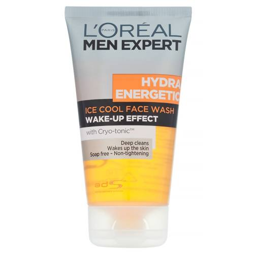 ژل پاک کننده صورت آقایان لورآل سری Men Expert مدل Hydra Energetic حجم 150 میلی لیتر