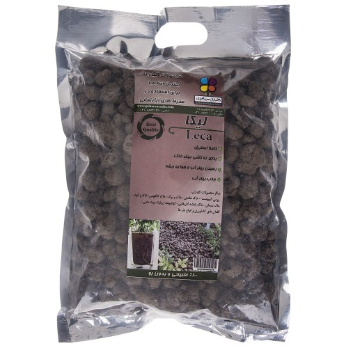 لیکا دانه بزرگ گلباران سبز بسته 500 گرمی