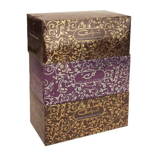 دستمال کاغذی گل پر مدل Flower - بسته 3 عددی
