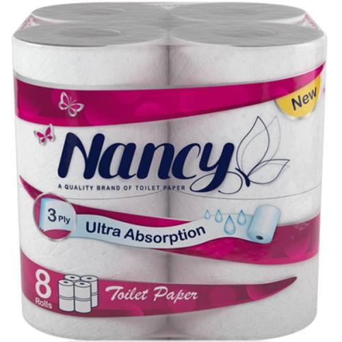 دستمال توالت نانسی بسته 8 عددی