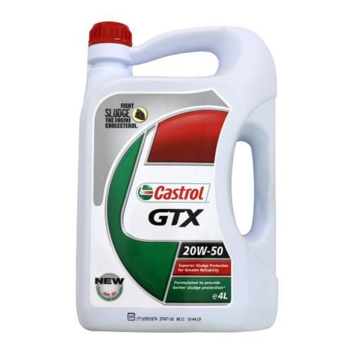 روغن موتور خودرو کاسترول مدل GTX ظرفیت 4 لیتر