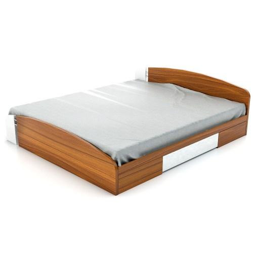 تخت خواب دو نفره فوفل مدل HB 101-B-163-D