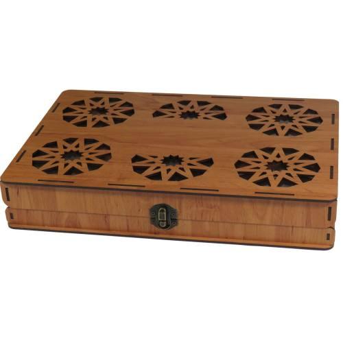جعبه چای کیسه ای لوکس باکس طرح کلاسیک کد LB016