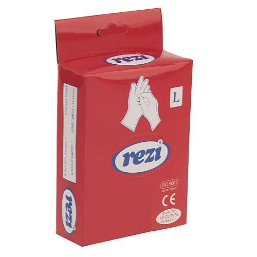 دستکش یکبار مصرف رزی کد 2626 - بسته 10 عددی