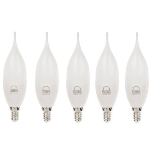 لامپ ال ای دی 6.5 وات بروکس مدل C30L پایه E14 بسته 5 عددی