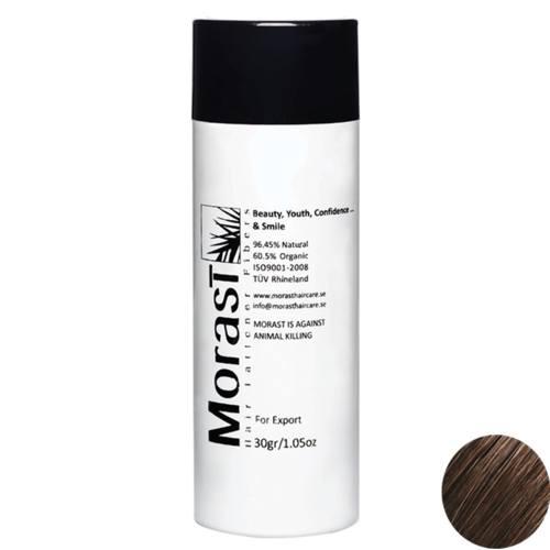پودر پرپشت کننده موی مورست مدل Medium Brown مقدار 30 گرم